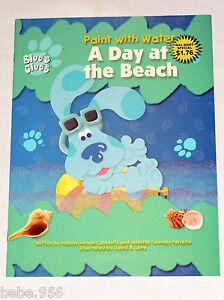 BLUE\'S CLUES PAINT WITH WATER COLORING BOOK - A DAY A THE BEACH ...