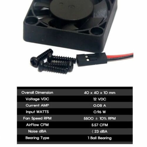 EVERCOOL PC Computer Case System Cooling Fan Cooler 40mm 2Pin 40x40x10mm 4cm
