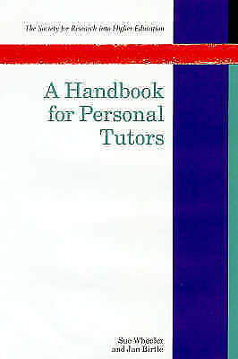 1 of 1 - A Handbook for Personal Tutors (Society for Research Into Higher-ExLibrary