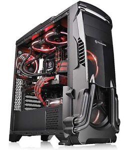 Thermaltake-Versa-N24-Black-Atx-Mid-Tower-Gaming-PC-Computer-Case-Cover-2DayShip