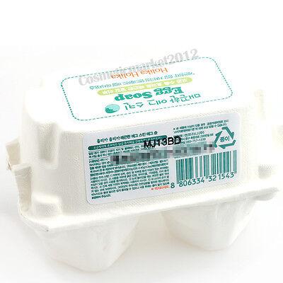 Holika Holika Egg Soap Set #White (50g x 2pcs) Free gifts