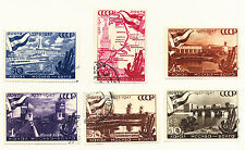 Russia 1947 1147-1152 Russian Moscow Volga Canal Set