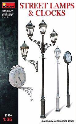 Miniart 35570 Railroad Power Poles And Lamps Scale Plastic Model Kit 1//35
