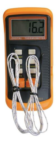 2 sensors /& probe Dual channel K Type Digital Thermocouple Thermometer 6802 II