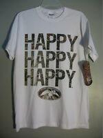 Mens M Duck Commander Logo Realtree Camouflage Phil Robertson 3 Happy.. T-shirt