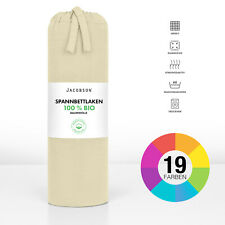 BIO Spannbettlaken Jersey Spannbetttuch ORGANIC 100% BIO-Baumwolle 160g/m² NEU