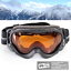 HERREN-Skibrille-BLACK-FRAME-Anti-Fog-Doppeloptik-S2-Orange-getoent-yx14-3674 Indexbild 1