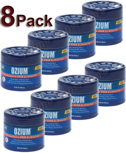 8 OZIUM Original Scent Smoke/Odors Eliminator Air Freshener Car Home 4.5 oz Gel