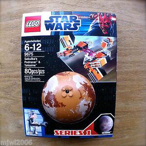 LEGO-9675-STAR-WARS-Sebulba-039-s-Podracer-amp-Tatooine-80-PCS-Series-1-FACTORY-SEALED