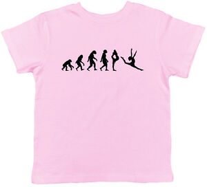 8aa6305bb648d Details about Evolution of Gymnastics Childrens Kids Girls Boys Gymnast Tee  T-Shirt