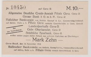 10-Mark-Banknote-Gera-Reuss-Hallescher-Bankverein-14-11-1918-120347