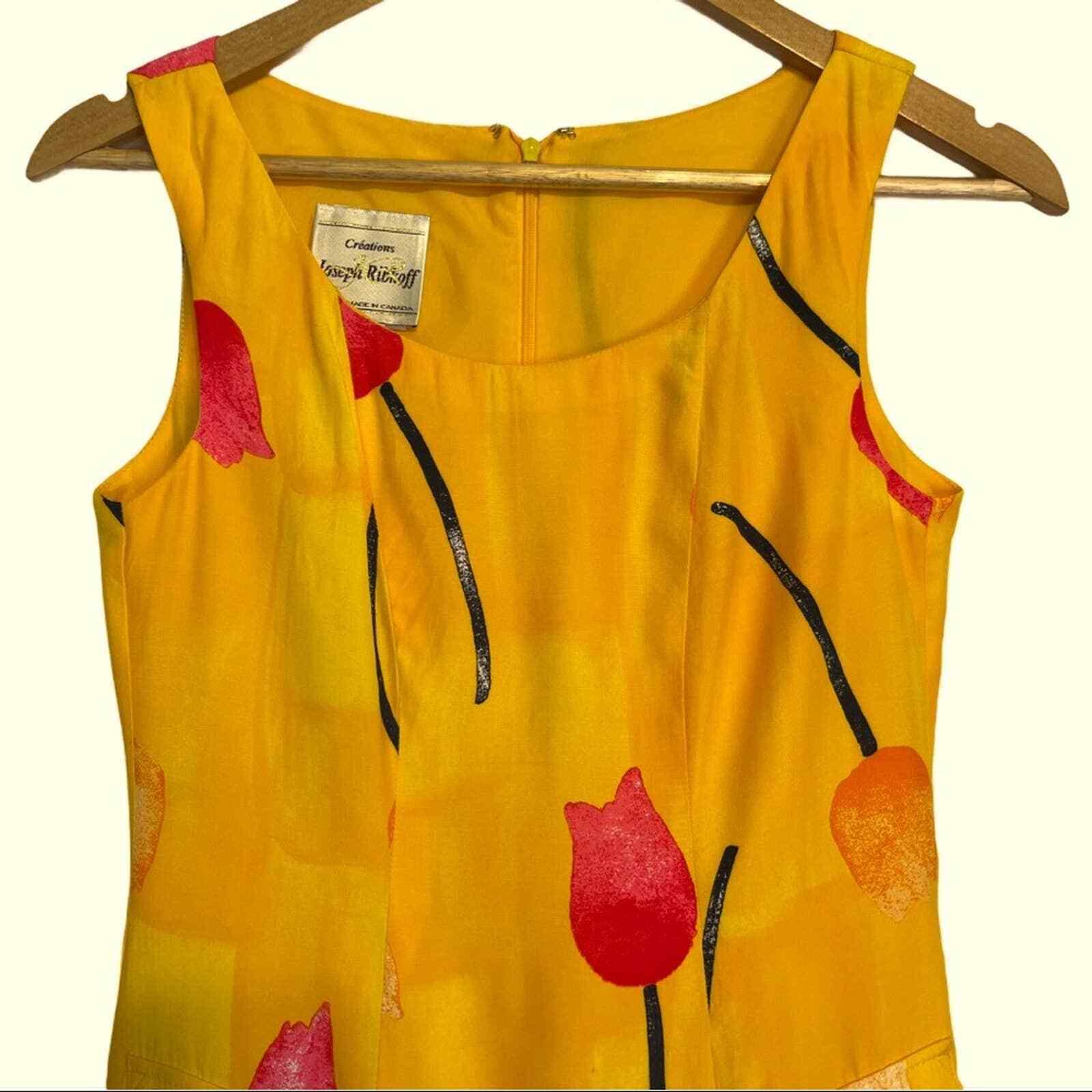 Joseph Ribkoff Tulip Print Sleeveless Sheath Dress - image 2