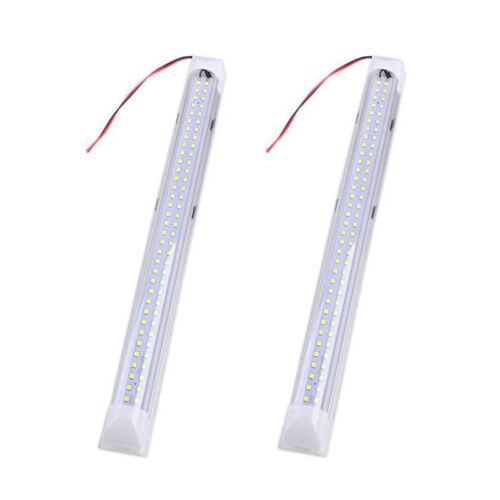 2Pcs 12V 72 LED Tube Lamp Strip Bar Light Home Car Interior Tube Light Universal