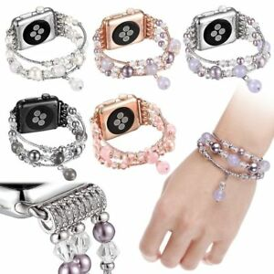Agate Pearl Beads Bracelet Watch Band Strap For Apple Watch Series 3 2 1 38 42mm Ebay