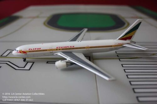 Gemini Jets Ethiopian Airlines Boeing 767300ER in Old Color Diecast Model 1400