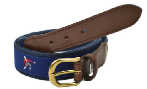 Brooks Brothers Men/'s Football Braided and Leather Madras Belt 9656-2 XL