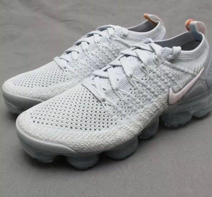 "Wmns Nike Vapormax Flyknit 2 ""Pure Platinum"" With Floral Accents UK 9 EU 44 BNIB"