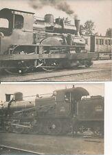 Train c. 1900 - 2 Photos Locomotives Vapeur - 2