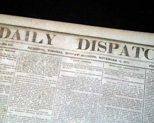 CONFEDERATE-Jefferson-Davis-amp-Battle-of-Leesburg-VA-Civil-War-1861-Old-Newspaper