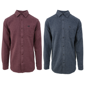 Obey-Mens-Numbers-Slim-Fit-L-S-Flannel-Shirt-Retail-90