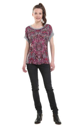 Desigual Sevilla mandala imprimer T-Shirt Haut XS-XXL UK 8-18 RRP £ 44 Brillant