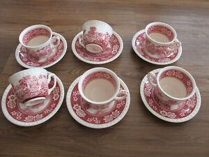 5 Untertassen Villeroy /& Boch Rusticana Rot Unterteller kleine Teller Porzellan