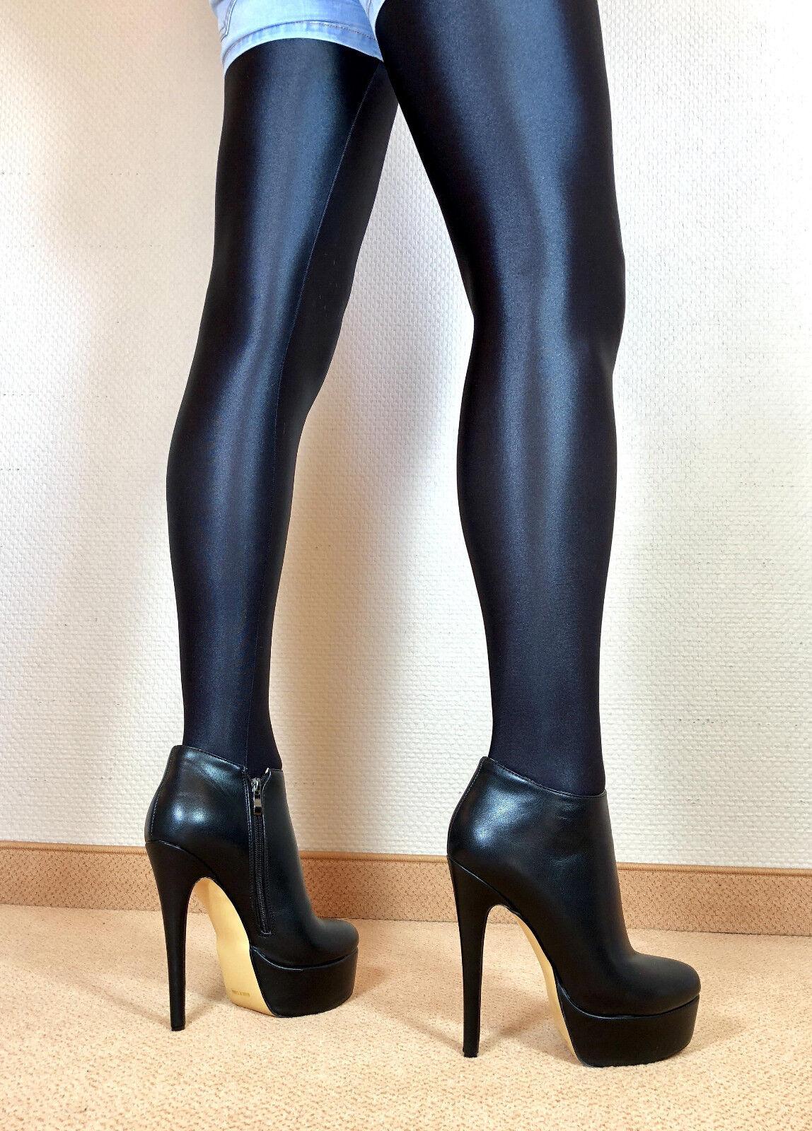 en exclusiva sexy tacón alto zapatos señora Stiletto Booties mujers botas f2