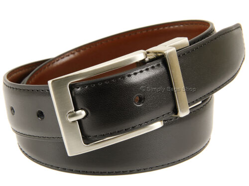 "Olly/'s Genuine Leather Reversible Belt For Men 1.0/"" 27mm Width With Metal Buckle"