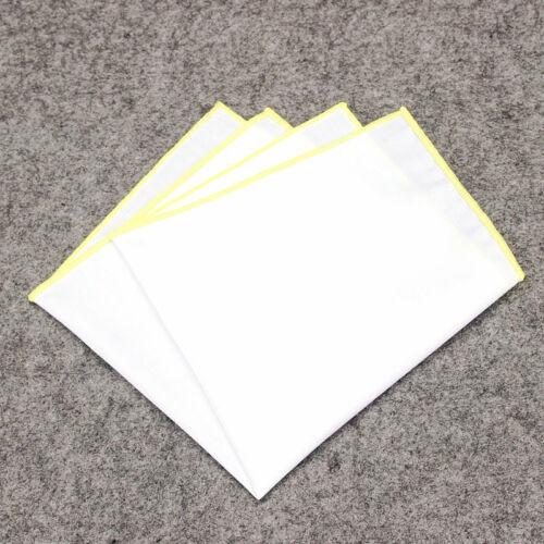Solid  Color Edge Handkerchiefs UK Men/'S Pocket Square Handkerchief Cotton