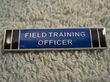 Field Training Officer Police Merit Badge FTO Cops Citation Bar Silvertone Pin