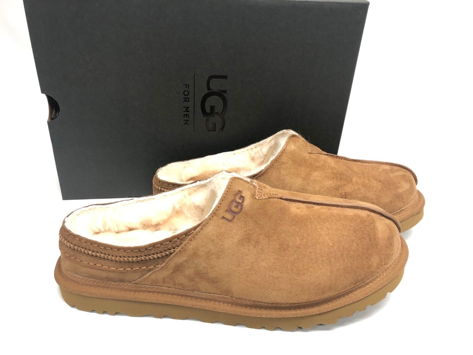 9c281441b7e UGG Australia Men's Neuman Chestnut Suede Slippers Moccasin 3234 Size 7 -  17 10