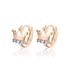Luxury-18-k-Gold-Plated-Jewellery-Small-Baby-Girls-Hoops-Crown-Designer-Earrings
