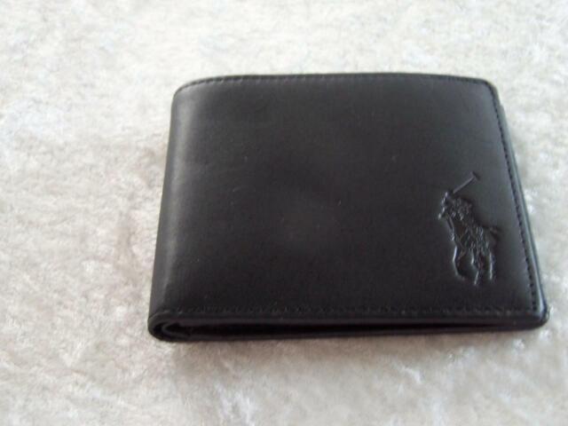 Ralph Lauren Purple Label Calf Grain Pebbled Leather Card Holder Italy