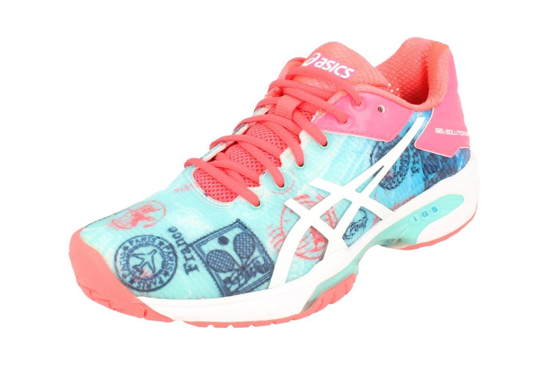 Asics Gel-Solution Velocidad 3L E. Paris Mujer Tenis Zapatos E761N Zapatillas