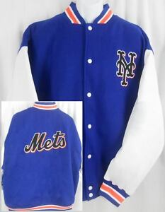 New York Mets MLB Wool / Polyester Majestic Bomber Jacket Big & Tall Sizes