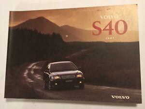VOLVO-S40-OWNERS-MANUAL-DRIVERS-HANDBOOK-1997-PETROL-amp-TURBO-DIESEL-MODELS
