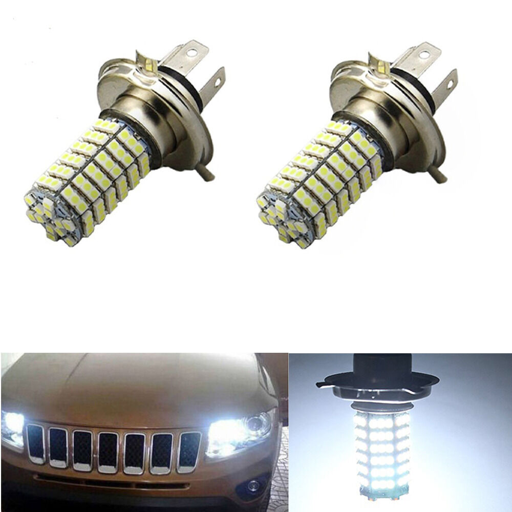 2x H4 120 SMD LED Car Light Bulb Hi//Low Beam Fog Headlight 9003 HB2 Lamp 6500K