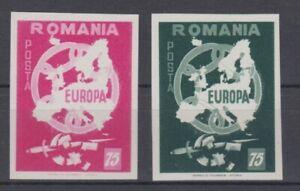 Europe-Cept-Romania-2-Values-Cut-Cinderella-MNH
