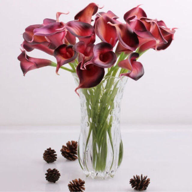 Hot Artificial Calla Lily Wedding Bridal Bouquet Head Fake Flower DIY Home Decor