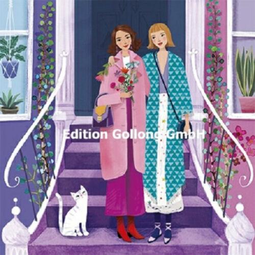 """Mila Marquis"" /""Zwei Frauen/"" Postkarte Grußkarte Postcrossing Geschenkkarte"