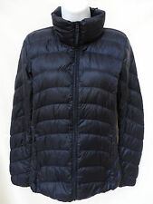 Auth UNIQLO Womens Navy Blue Lightweight Packable Quilted Down Coat Jacket S XS