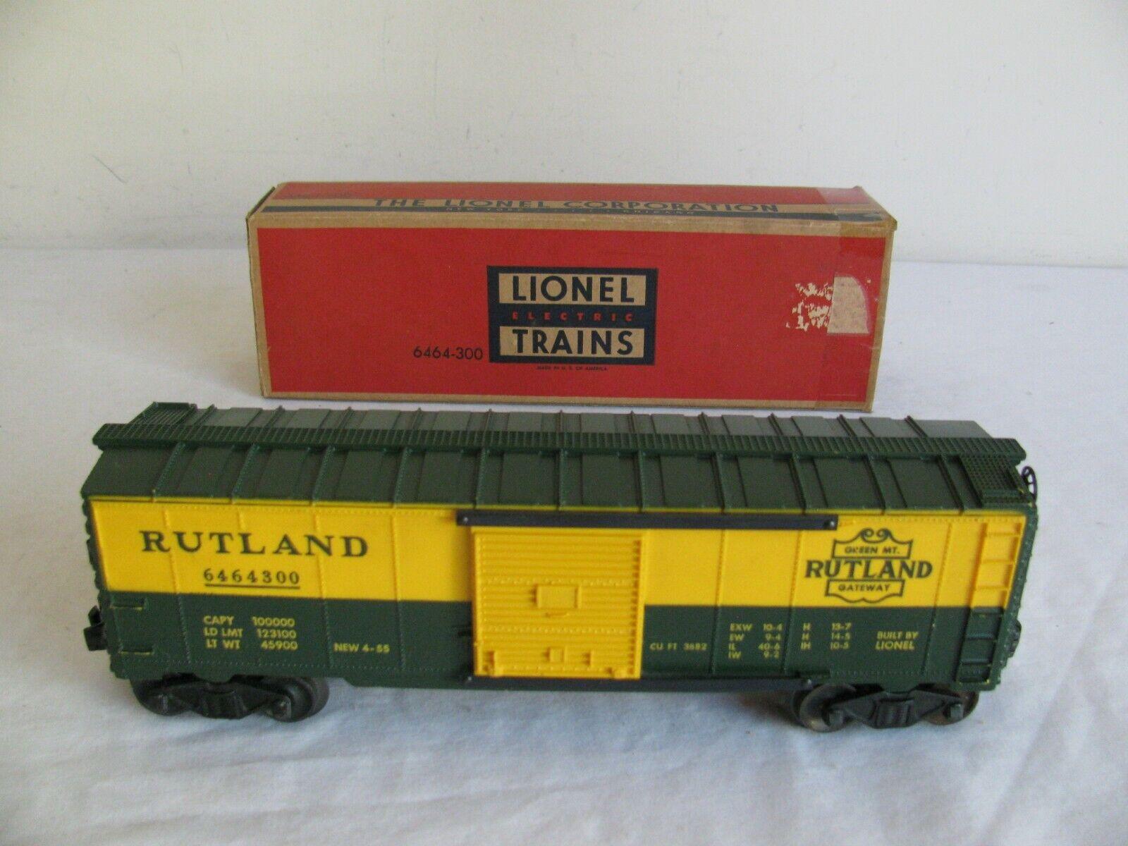 Vintage Trenes Lionel O O-27 escala Rutland Gateway coche de caja  6464-300 Muy Buen