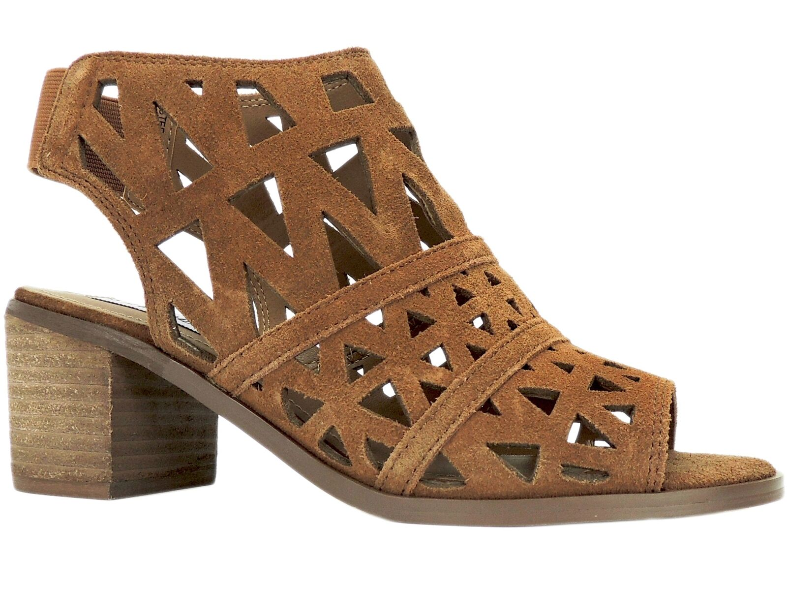 Steve Madden Women's Estee Cage Sandals Cognac Suede Size 7 M