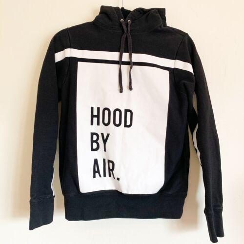 Hood By Air Black Hoodie Hood By Air Front Logo Si