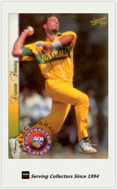 1997/98  Select Cricket Trading Cards CA Contract Players Card P21 D. Fleming