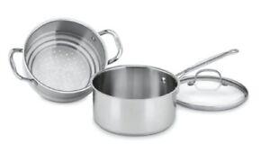 Cuisinart-3-Qt-Steamer-Set-3-pc-3-Quart-Saucepan-Steamer-Insert-Lid