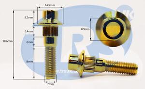filetage 40mm Boulon de roue et casiers silver 20 X M12 X 1.5 rayon