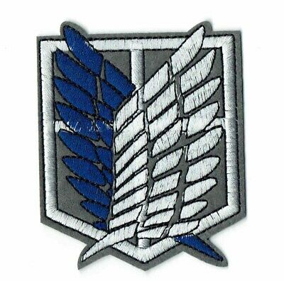 Attack On Titan Eagle Wings Shield Blue White Iron On Patch