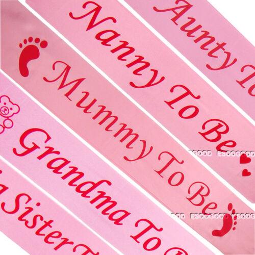 Tannte /& Big Sister /& Grandma Werdende Babyparty Schärpen Mutti Werdende Nanny