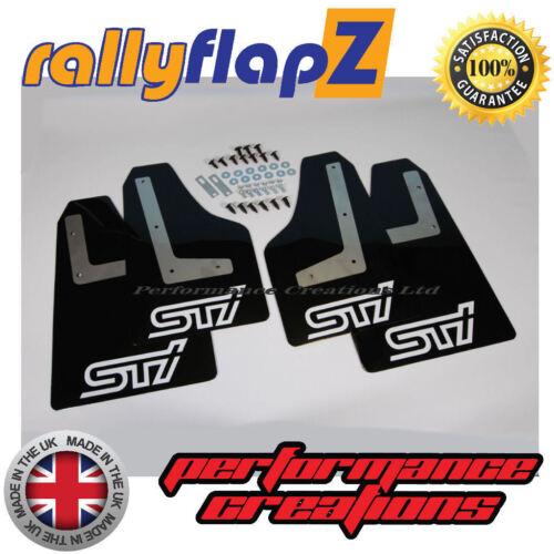 Parafanghi Nera STi Bianco 4mm PVC RallyflapZ SUBARU IMPREZA HATCHBACK 08-12